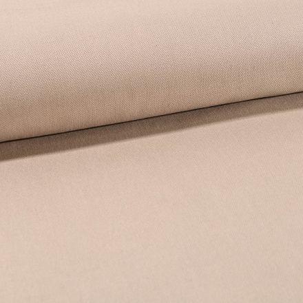 Tissu Toile Coton Canvas uni Beige Clair - Par 10 cm