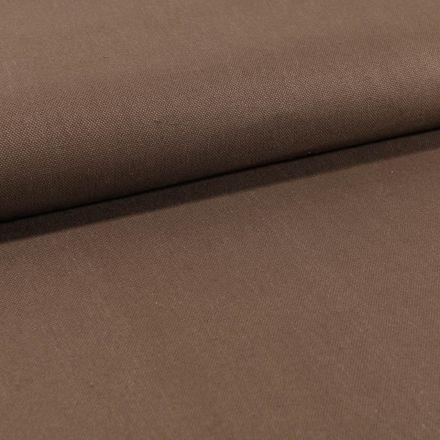 Tissu Toile Coton Canvas uni  Marron Clair - Par 10 cm