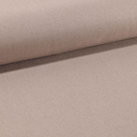Tissu Toile Coton Canvas uni Beige Sable - Par 10 cm