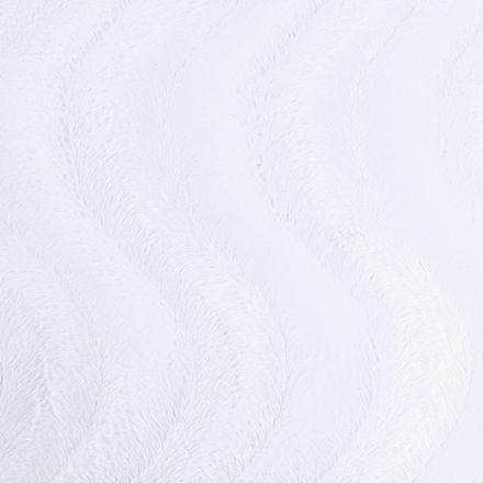 Tissu Velours Peau de bête Vagues Blanc - Par 10 cm