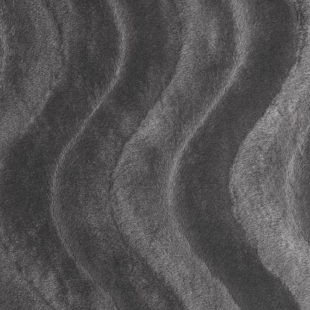 Tissu Velours Peau de bête Vagues Gris - Par 10 cm