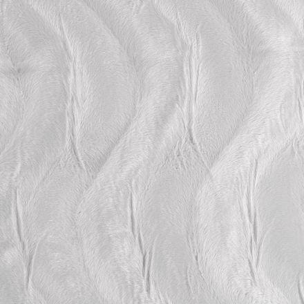 Tissu Velours Peau de bête Vagues Gris perle - Par 10 cm