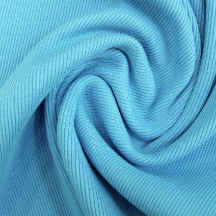 Tissu Bord côte Turquoise x10cm