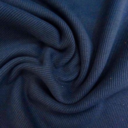 Tissu Bord côte Bleu marine x10cm