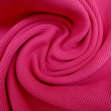 Tissu Bord côte Fuchsia x10cm