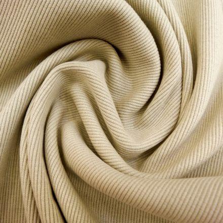 Tissu Bord côte Beige x10cm