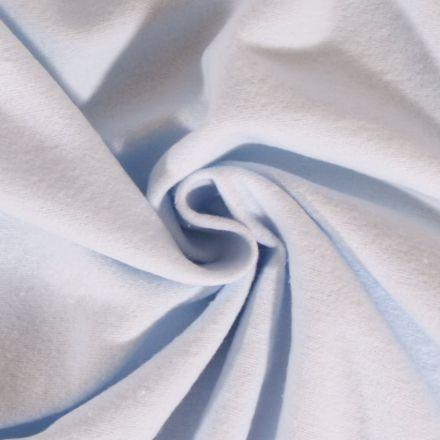 Tissu Flanelle de coton uni Bleu Ciel - Par 10 cm