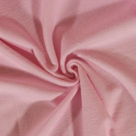 Tissu Flanelle de coton uni Rose Bébé - Par 10 cm