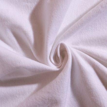 Tissu Flanelle de coton uni Blanc - Par 10 cm