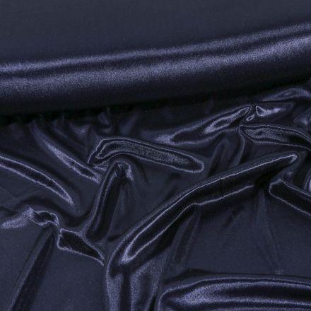 Tissu Doublure Maille Bleu marine - Par 10 cm