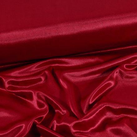 Tissu Doublure Maille Bordeaux - Par 10 cm