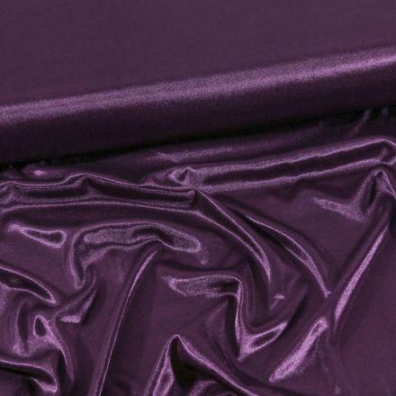 Tissu Doublure Maille Aubergine - Par 10 cm