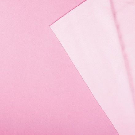 Tissu Polaire Double face Bicolore Rose clair et rose - Par 10 cm