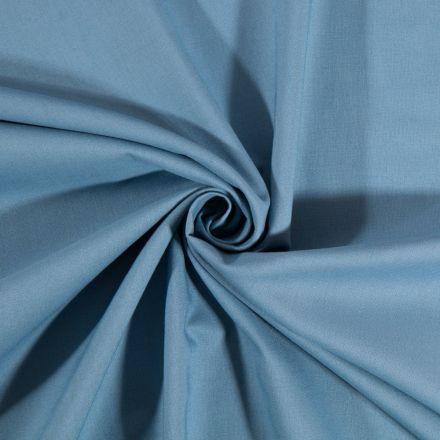 Tissu Coton uni Bleu ancien - Par 10 cm
