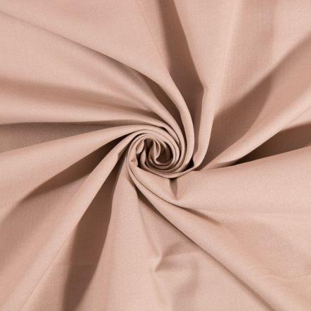 Tissu Coton uni Beige - Par 10 cm