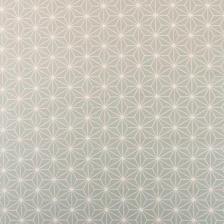 Tissu Coton Imprimé Arty Casual Opaline - Par 10 cm