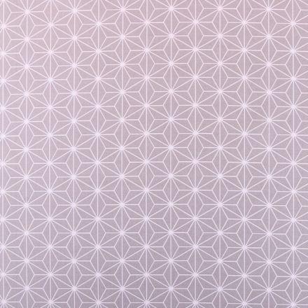Tissu Coton Imprimé Arty Casual Gris - Par 10 cm