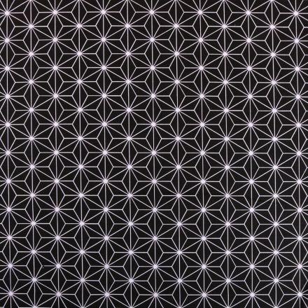Tissu Coton Imprimé Arty Casual Noir - Par 10 cm