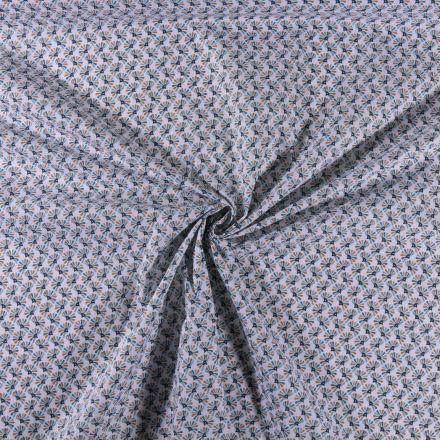 Tissu Coton imprimé Éventails sur fond Blanc - Par 10 cm