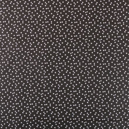 Tissu Coton Imprimé Arty Yozid Noir - Par 10 cm