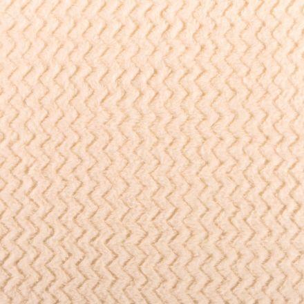 Tissu Minky Ultra doux Réversible Wave Blanc cassé - Par 10 cm