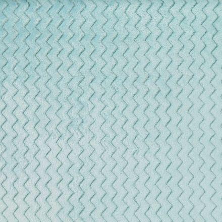 Tissu Minky Ultra doux Réversible Wave Menthe - Par 10 cm