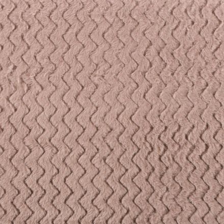 Tissu Minky Ultra doux Réversible Wave Taupe - Par 10 cm