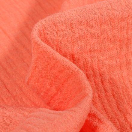 Tissu Double gaze de coton uni Melon
