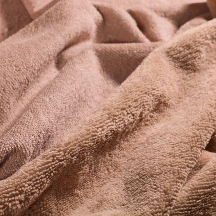 Tissu Micro Éponge Bambou Beige sable - Par 10 cm