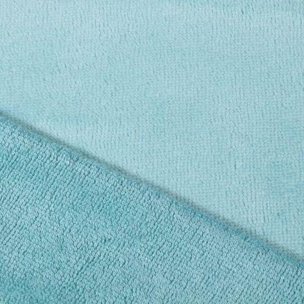 Tissu Micro Éponge Bambou Bleu lagon - Par 10 cm