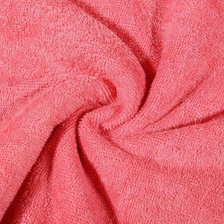 Tissu Micro Éponge Bambou Rose corail - Par 10 cm