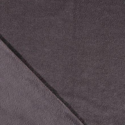 Tissu Micro Éponge Bambou Gris anthracite - Par 10 cm
