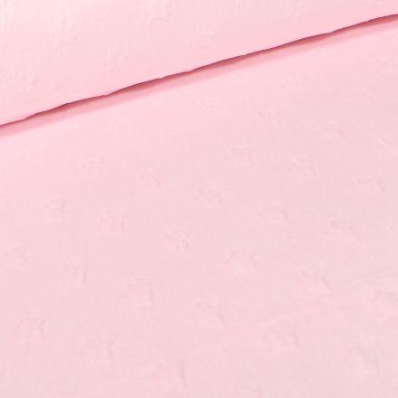 Tissu Minky Ultra doux Etoiles  Rose blush