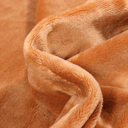 Tissu Minky Ultra doux Ras Camel