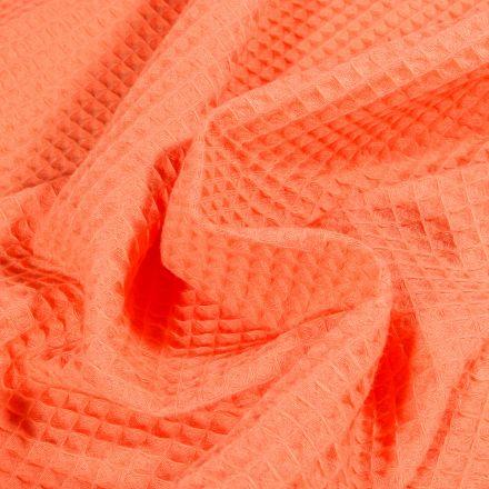 Tissu Nid d'abeille Pêche