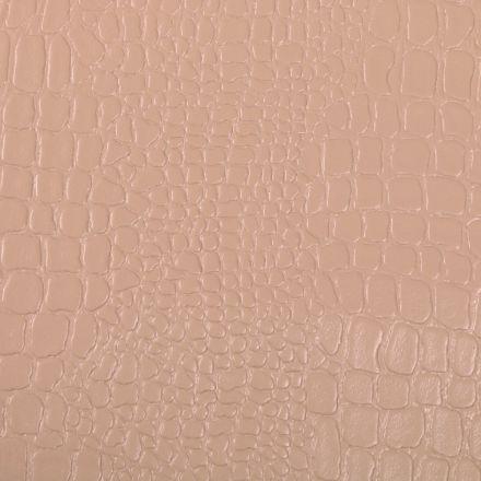 Tissu Simili cuir Croco Camel - Par 10 cm