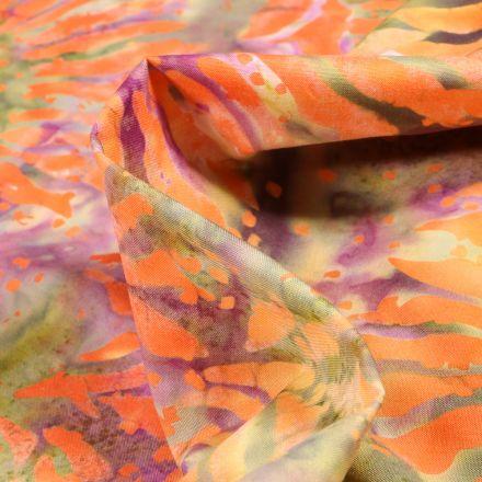 Tissu Batik  Taj sur fond Vert amande