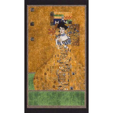 Tissu Robert Kaufman Gustav Klimt Femme sur fond Or - Par panneau de 60 cm
