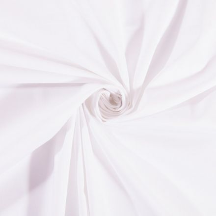 Tissu Coton uni Blanc - Par 10 cm