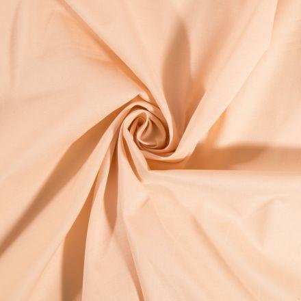 Tissu Coton uni Chair - Par 10 cm