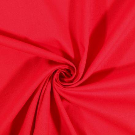 Tissu Coton uni Rouge vif - Par 10 cm