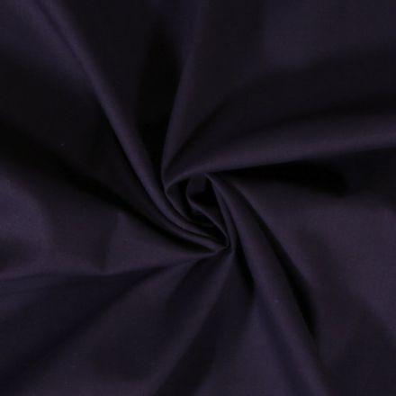 Tissu Coton uni Bleu marine foncé - Par 10 cm