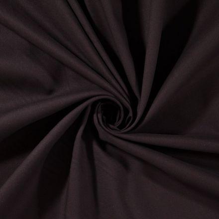 Tissu Coton uni Noir - Par 10 cm