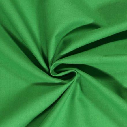 Tissu Coton uni Vert - Par 10 cm