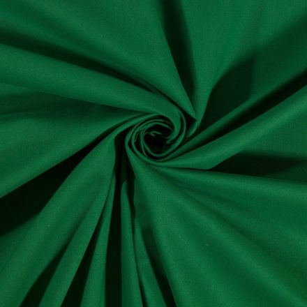 Tissu Coton uni Vert sapin - Par 10 cm