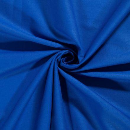 Tissu Coton uni Bleu roi - Par 10 cm