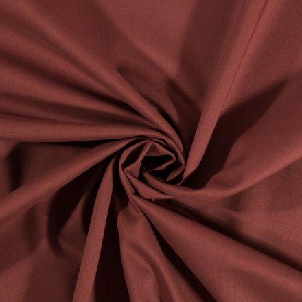 Tissu Coton uni Marron - Par 10 cm