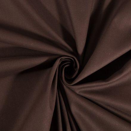 Tissu Coton uni Chocolat - Par 10 cm