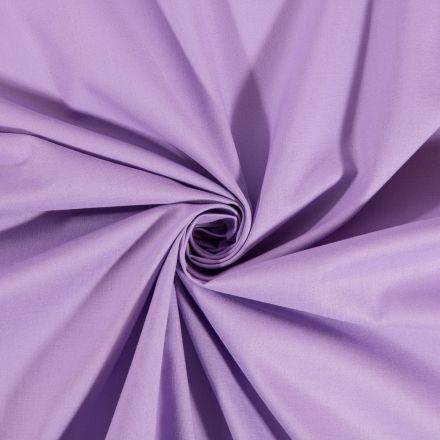 Tissu Coton uni Lilas - Par 10 cm