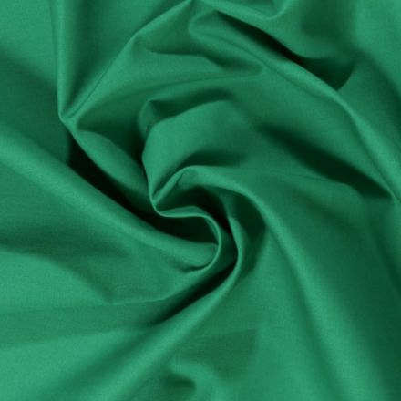 Tissu Coton uni Vert jade - Par 10 cm
